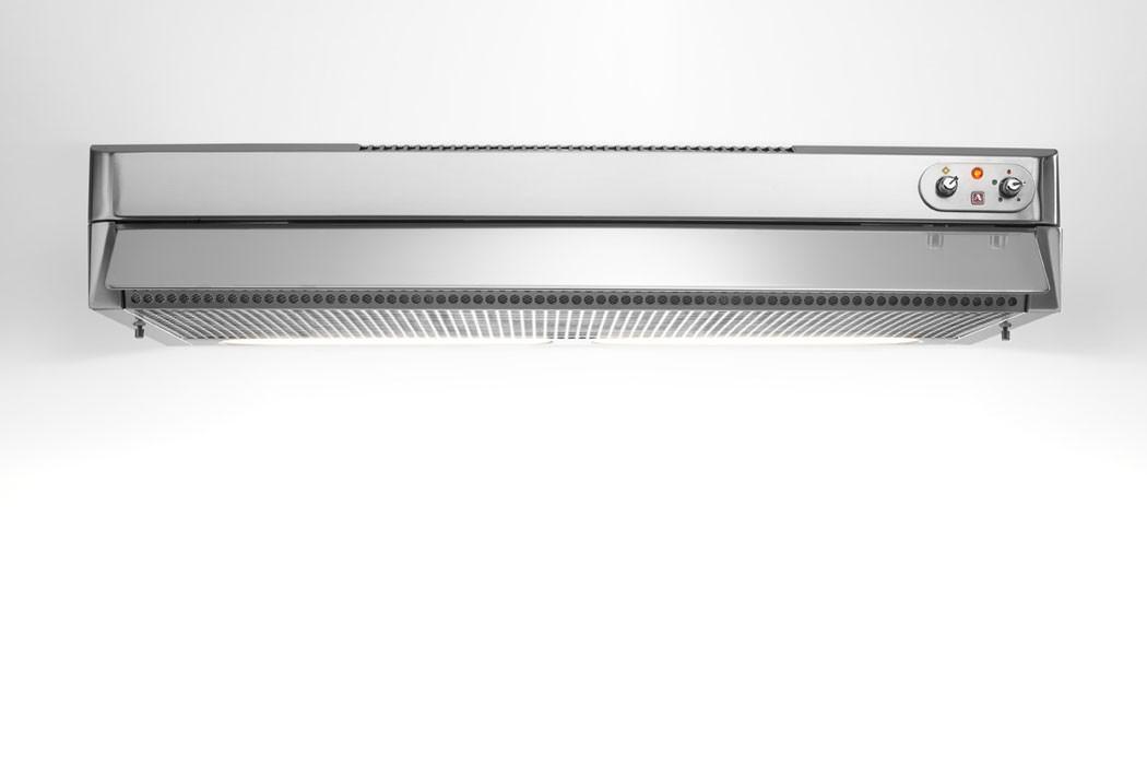 Edelstahl-Dunstabzugshaube mit ausziehbarem Filter