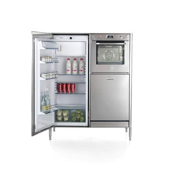 Hochschrank mit 128 cm Breite zur Aufnahme von Kühlschrank, Backofen und Geschirrspüler