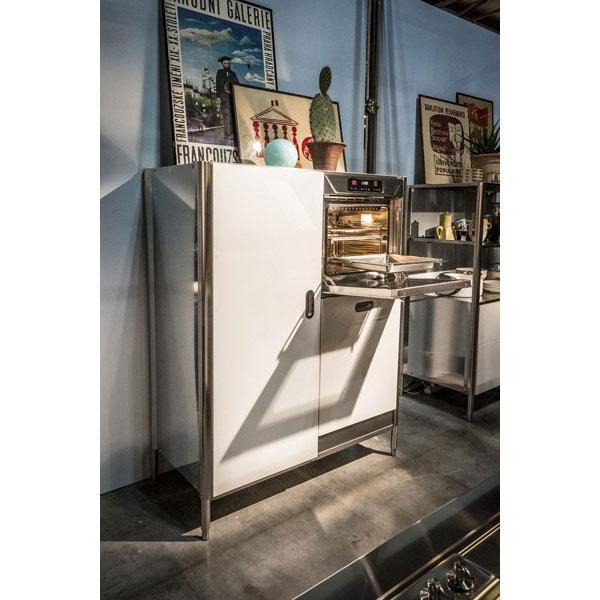 Edelstahl-Hochschrank 128 cm mit Backofen, Geschirrspüler