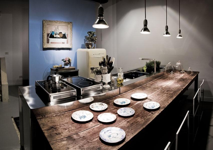 Edelstahl-Küchen-Elemente 100 cm Klappkochfelder