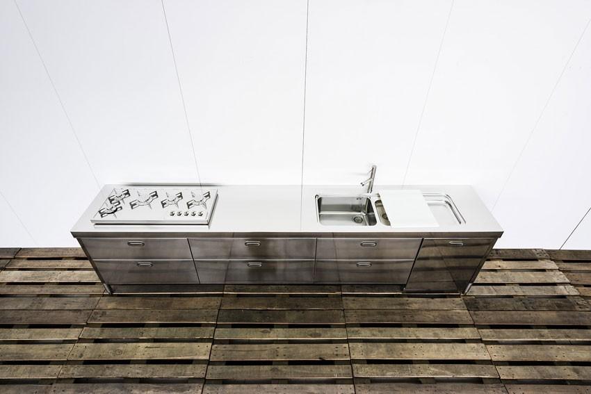 Edelstahlküche 370 cm - kochen, spülen, lagern