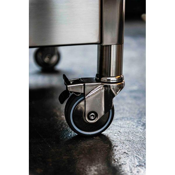 Edelstahlküche auf Rädern 160 cm