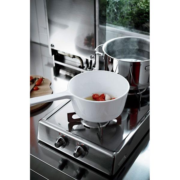 Edelstahlküche 190 cm breit: BLOW UP