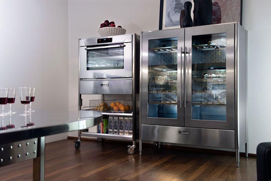 Edelstahl Küchen-Kombination 190 cm breit