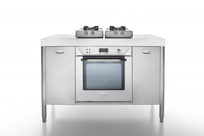 Edelstahl Küche 130 cm kochen, backen