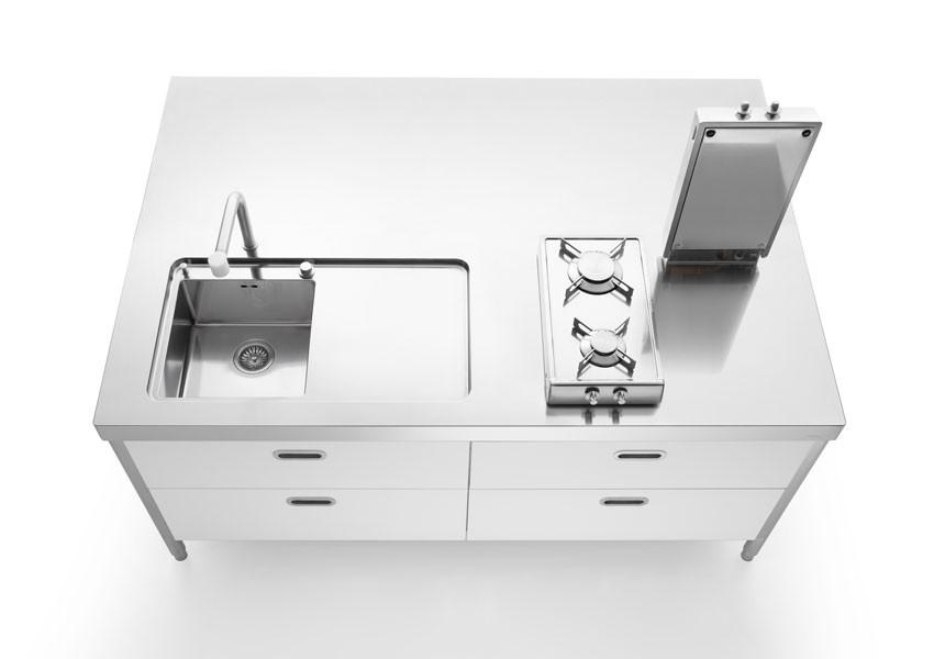Edelstahl Küche 190 cm