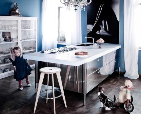 Kücheninsel 250 bis 280 cm breit mit Theke
