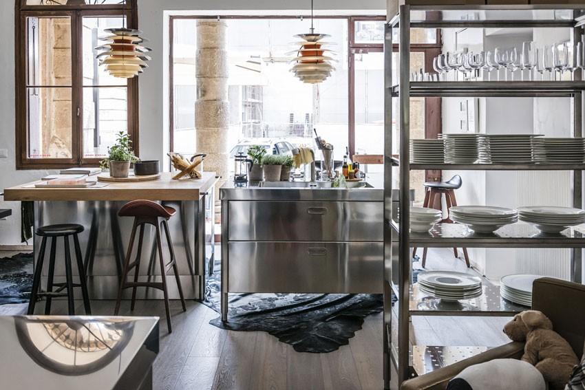 Edelstahl Kücheninsel 130 cm von Alpes-Inox