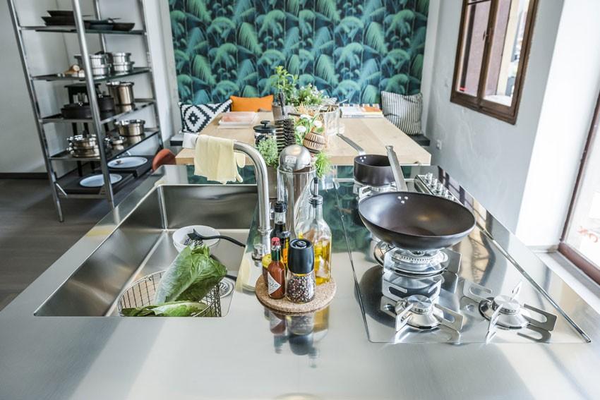 Edelstahl Kücheninseln 130 cm von Alpes-Inox