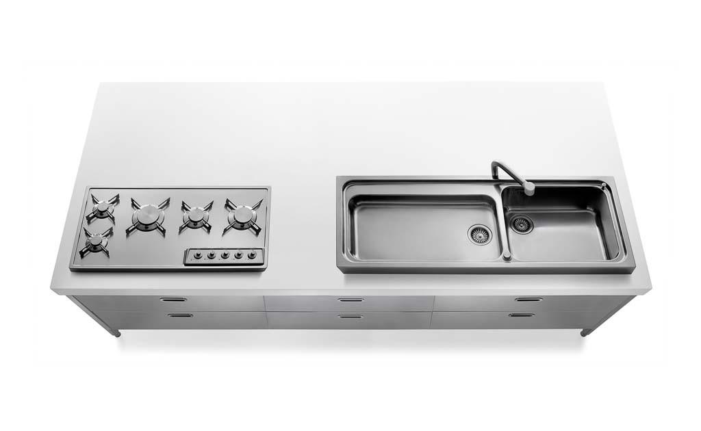 Edelstahl Kücheninseln 280 cm breit