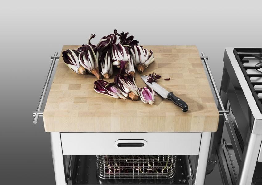 Küchenwagen mit Platte aus Massivholz