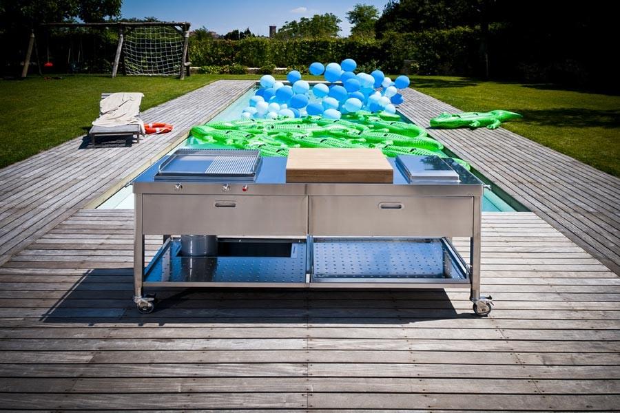 Edelstahl-Outdoor-Küche Pool 190 cm
