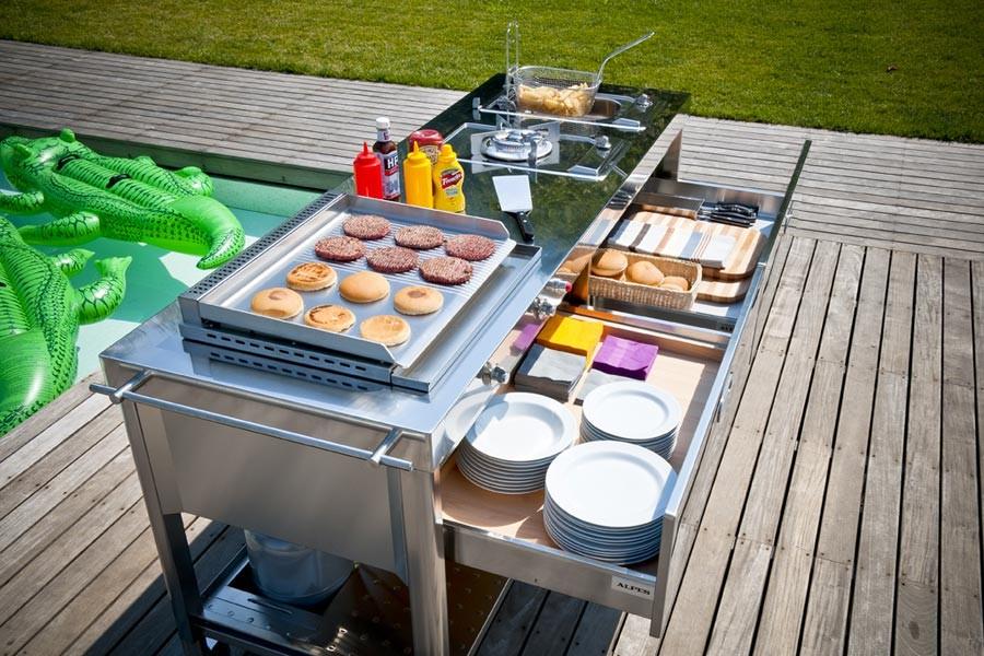 Outdoor Küche Edelstahl : Outdoor kÜche u epoolu c mit einer kochstelle