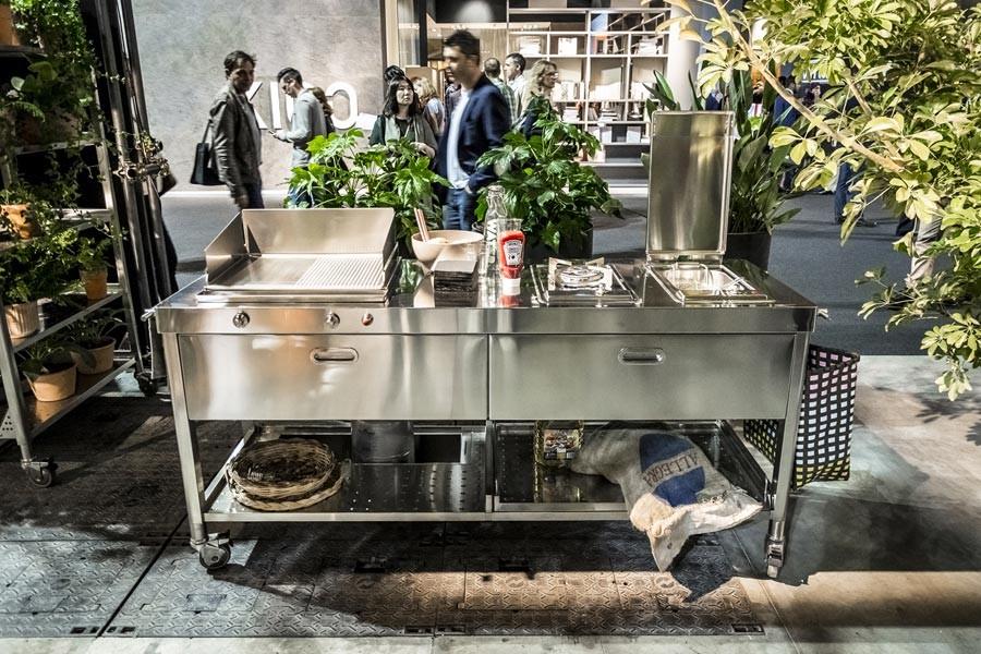 Edelstahl-Outdoor-Küche Eurocucina 190 cm