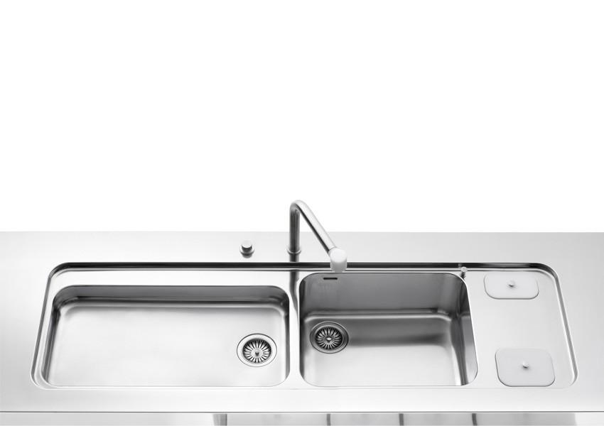 Edelststahlspüle 190 cm breit