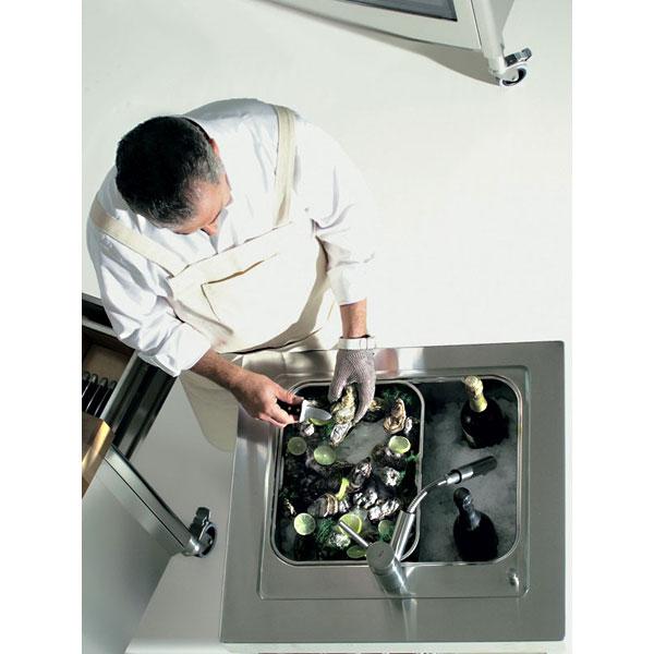 Zusammenstellung Edelstahl-Küchen-Elemente 70 cm