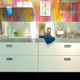Edelstahlküche kombiniert 250 cm